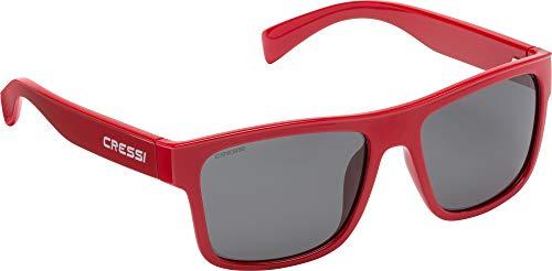 Cressi Unisex- Erwachsene Spike Sunglasses Sport Sonnenbrillen, Rot/Linsen Fumé, One Size