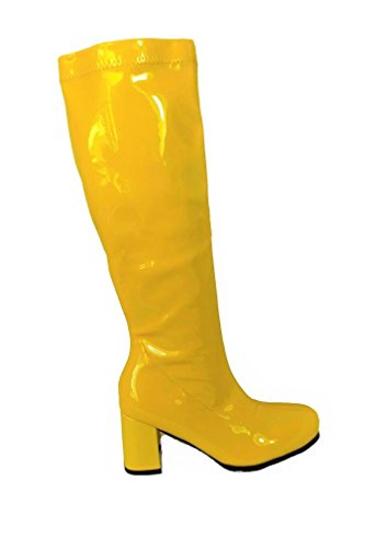 Yellow GoGo Boots for Women. Sizes 3 to 8. Other colours available.