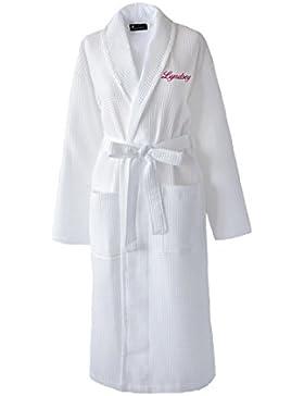 Personalizzato spa waffle accappatoio in cotone accappatoio, salone, addio al nubilato vestaglie, 100% cotone,...