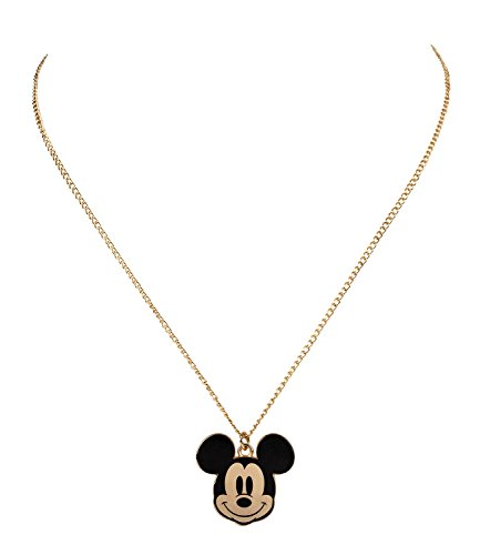 SIX Disney Adults, Micky Maus Kopf,Halskette, Anhänger, Gold (758-175)