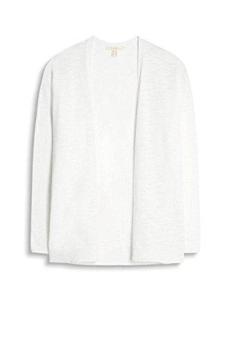 ESPRIT Damen Strickjacke Weiß (White 100)