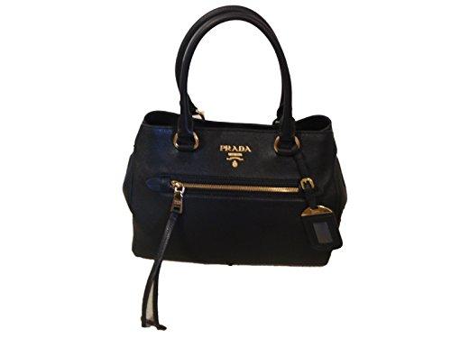 PRADA Handtasche Vitello Phenix mit Zertifikat, nero (Tasche Damen Prada)