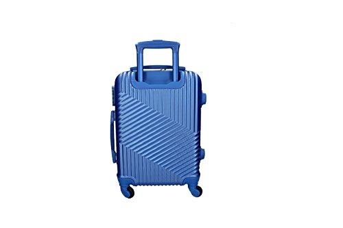 3 Maletas rígidas PIERRE CARDIN azul cabina para viajes 4 ruedas