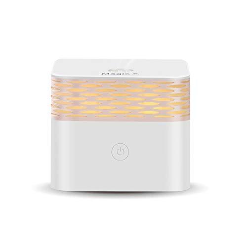 Ultrosonic Aroma Diffusor Moisturze Refresh Duft Luft Aromatherapie Leiser Luftbefeuchter Nachtlicht im Schlaf for Zuhause (Color : White) - Refresh Aromatherapie