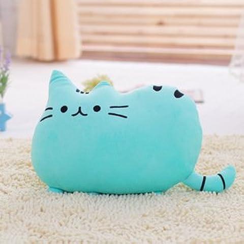 """Creative, motivo Big Cat-Cuscino da divano, morbido peluche Bambola 38,10 cm (15"""") 1 pezzo, colore: blu"""