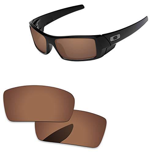 Oak&ban polarisierte Ersatzgläser für Oakley Gascan Sonnenbrillen, Verschiedene Optionen, mit Brillentuch, Herren, Brown-Polarized