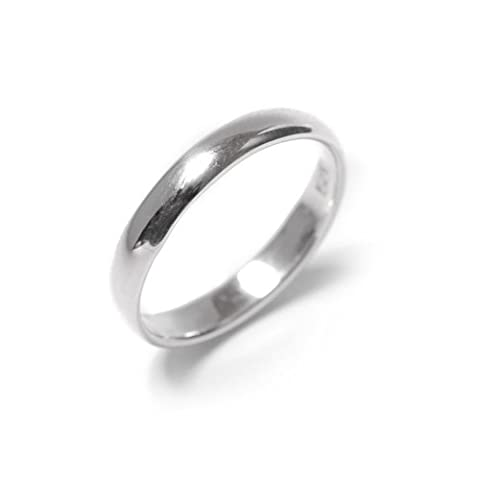81stgeneration Sterling Silver Plain .925 Ring Band 3 mm Engagement Wedding Thumb Toe Ring