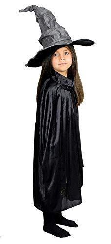 (narrenkiste K31272510-70-A schwarz Kinder Hexen Umhang Cape Länge ca.70 cm)