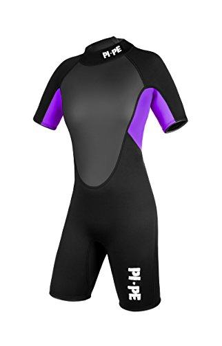PI-PE Damen Neoprenanzug Pro Spring Short Sleeve Lilac, M