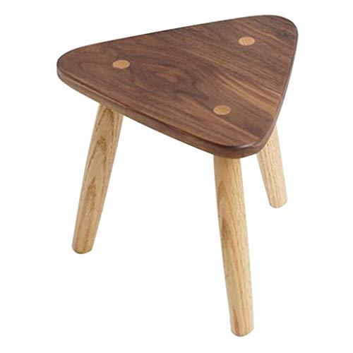 HJCA Hocker Dreieck Hocker Kreative Massivholz Dreibeinige Kleine Bank Kinder In Der Küche Bad Und Schlafzimmer -30,7 cm * 28 cm Multifunktionaler bequemer Stuhl für mehrfache OCC -