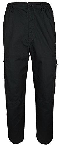 SOUNON Herren Cargohose, Cargo Pants aus 65% Baumwolle, 35% Polyester - Schwarz (M3), Groesse: 2XL