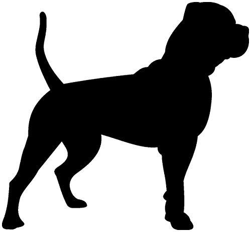 Samunshi® American Bulldog als Wandtattoo in verschiedenen Farben und Größen - Hunde Aufkleber in 9 Größen und 25 Farben (70x64cm schwarz) -