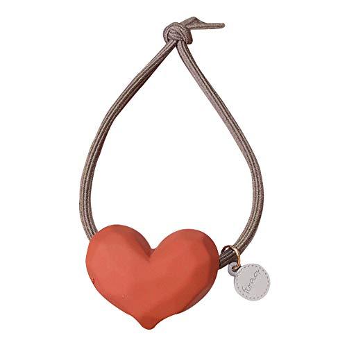 Dontdo - elastico per capelli a forma di cuore, per donne e ragazze