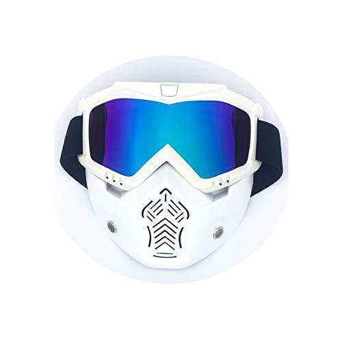 MaxAst Sportbrille Outdoor Skibrille Nebel Schutzbrille Antibeschlag Matte Weiß Bunten