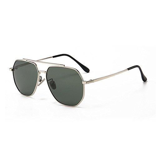 Yiph-Sunglass Sonnenbrillen Mode Kids Polarized Sonnenbrillen Full Metal umrandet mit Box UV-Schutz Jungen und Mädchen im Alter von 3 bis 12 Jahren (Farbe : Grün)