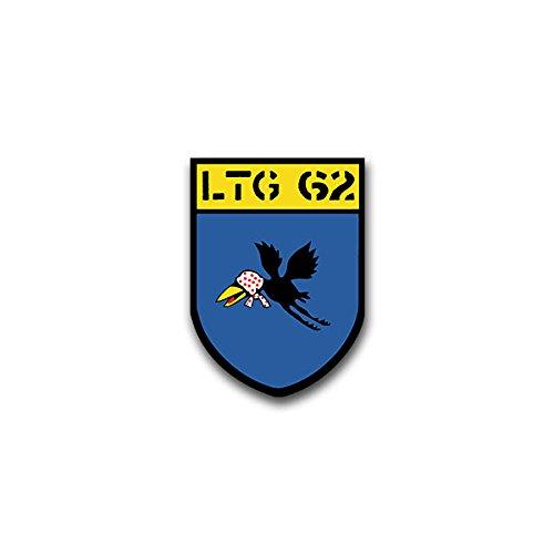 Aufkleber / Sticker - LTG 62 Lufttransportgeschwader Luftwaffe Bundeswehr Fliegerhorst Wunstorf Wappen Abzeichen Emblem passend für VW Golf Polo GTI BMW 3er Mercedes Audi Opel Ford (5x7cm)#A1579