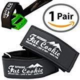 Fat Cookie Outdoors - Cinghie per Pedali per Bicicletta, in Pelle Sintetica Resistente, con Istruzioni (Lingua Italiana Non Garantita)