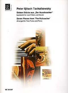 NUSSKNACKER SUITE OP 71A - arrangiert für zwei Querflöten - (Violine) - Klavier [Noten / Sheetmusic] Komponist: TSCHAIKOWSKY PJOTR ILJITSCH