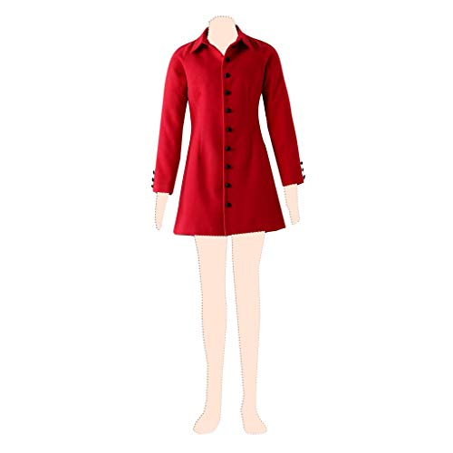 Dream2Reality The Holy Grail War Cosplay Kostuem Rin Tohsaka Ver.4 Red Coat Kid Small (Tohsaka Rin Kostüm)