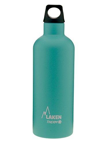 500 Laken (Wärmflasche Futura Laken in Edelstahl mit Isolierung Vakuum und Mund Enge 500ml türkis)