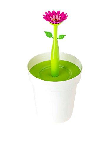 Vigar Flower Power – Papelera baño, plástico, 21 x 20,5 x 26,5 cm, multicolor