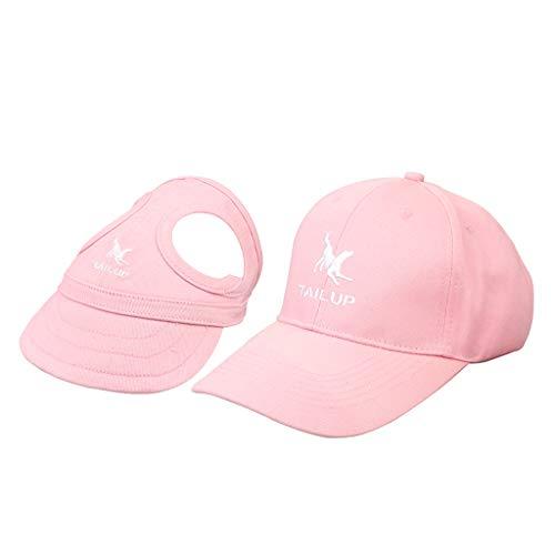 KESOTO 2 Stück Baseball Cap Kappen Hut Baseballmütze für Hunde und Hundehalter - Rosa, S