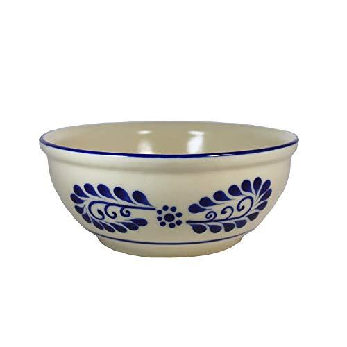Dekorative Schüssel im Talavera-Stil Ramas 23cm | Handgemacht | Talavera - Keramik | Handarbeit