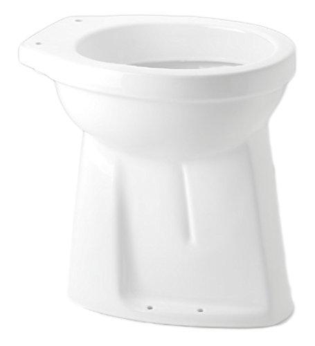 TrendLine Stand-Flachspül-WC Gamma erhöht, weiss, Abgang innen senkrecht