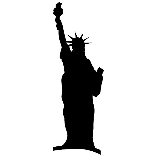 Wadeco Die Freiheitsstatue 3 Wandtattoo Wandsticker Wandaufkleber 35 Farben verschiedene Größen, 90cm x 30cm, grau (Freiheit Die Der Farbe)