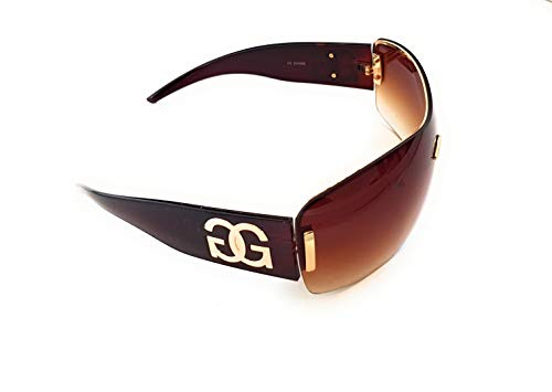 GG Eyewear Women es Designer Sonnenbrillen-Full UV400 Schutz-Women Fashion Sonnenbrillen-Modell: GGucineri Space With FREE Pouch and Case venture braun