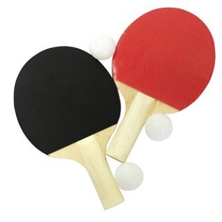 5 Piece Table Tennis Set 2 Table Tennis Bats and 3 Balls, 31872 by Unbekannt