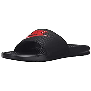 Nike Men's Benassi JDI Beach & Pool Shoes, Multicolour (Black/Challenge Red 060), 11 UK