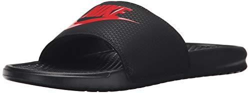 Nike Herren Benassi JDI Fitnessschuhe, Mehrfarbig (Black/Challenge Red 060), 45 EU