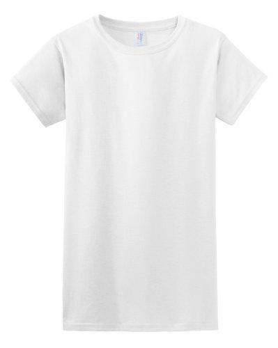 Gildan Damen Kurzarm T-Shirt Weiß