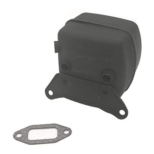 Cancanle Halterung Auspuff Schalldämpfer mit Dichtung Set für Husqvarna 365371372XP 385390XP Motorsäge