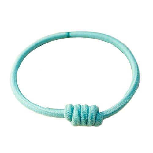 15pcs Light Blue Pferdeschwanz -Halter Elastic für Mädchen-Frauen mit Knoten-Haa (Leder-pferdeschwanz-halter)