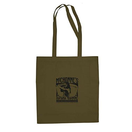 Michonne's Katana Training - Stofftasche / Beutel Oliv