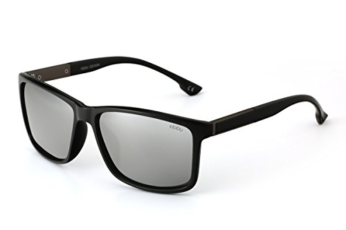 Feidu Herren Sonnenbrille, grau, FD0119