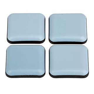 Furniture Sliders Pack of 16 Teflon PTFE Coated Self-Adhesive 25 x 25 mm Laflon Super Chair Glides