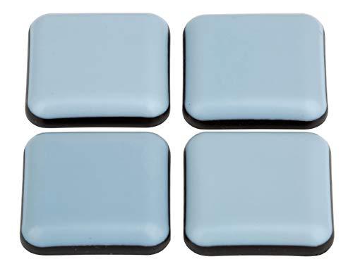 Lot de 16 patins téflon adhésifs pour meubles - 25 x 25 mm - Avec revêtement PTFE