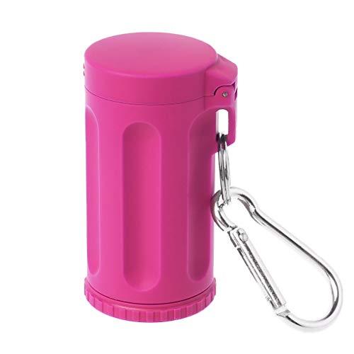 Yanhonin Taschen-Aschenbecher, tragbar, für Tabak, Outdoor, Key-Chain S Hot Pink