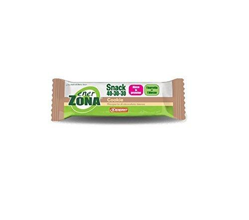 Enerzona snack 40-30-30 cookie ricoperta di cioccolato bianco box da 30 barrette