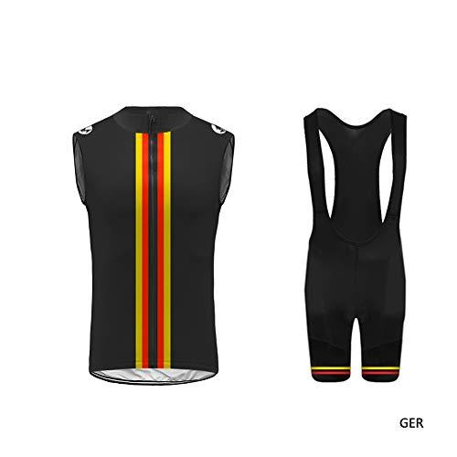 Uglyfrog -Bunt Camo Sport Radsport Herren Radtrikot Set Ärmellos mit Sitzpolster für MTB Rennrad Fahrrad Jersey + Bib Shorts Radsportanzug Westen Set(XXS-6XL) -