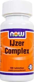NOW Foods IJzer Complex (Eisen mit Kräutern) 100 Tabletten