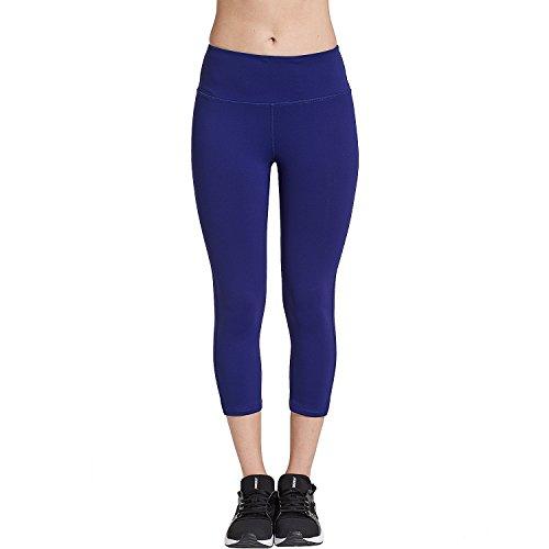 COOLOMG Damen Yoga Capriss 3 4 Hosen Kompression Leggings Sport  Trainingshose Dunkelblau XXL 405ca68d0b