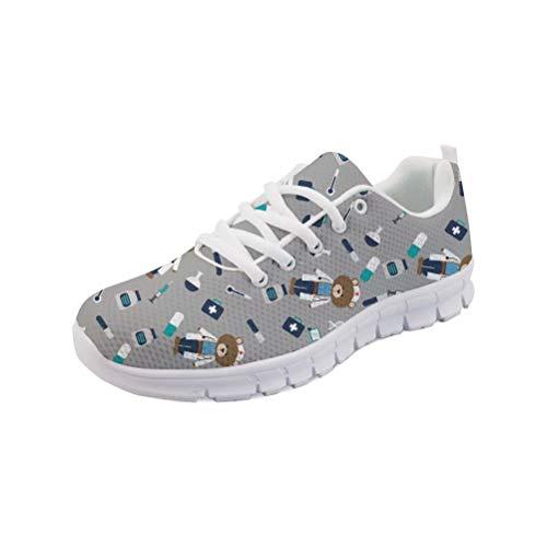 MODEGA Schuhe Damen bunt Coole Sneaker Jungen Schuhe mit weicher Sohle Moderne Schuhe Turnschuhe Glitzer graue Damen Sneaker Trachtenschuhe Damen grau gr 8 UK|41 EU