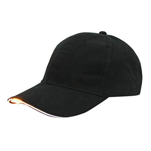 206eb8af6aa Anglewolf Led Baseball Cap Light Up Hat Travel Party Club Brim Batteries  Free Glow Bright Women