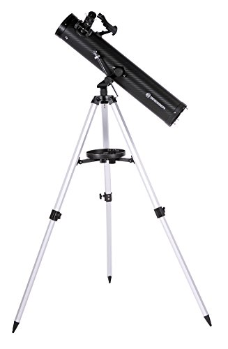 Bresser Spiegelteleskop Venus Azimutal 76/700 mit Smartphone Kamera Adapter