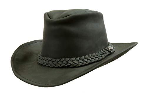 Kakadu Cowboy Western Lederhut Australian Style- Paxton mit formbarer Krempe -