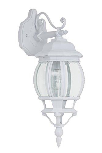 Istria Außenwandleuchte, hängend, 1x E27 maximal 53W, Alu-Druckguss/Glas, weiß / transparent 48682/05